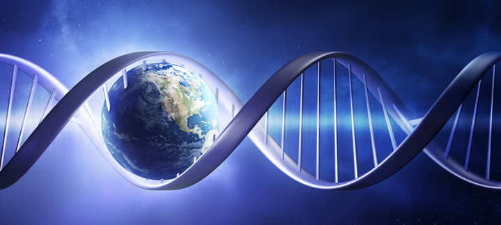 DNA holding planet earth