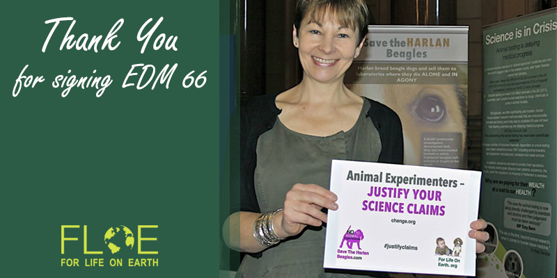 Caroline Lucas MP, EDM 66 for twitter